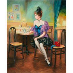 "Taras Sidan- Original Oil on Canvas ""Dinner"""