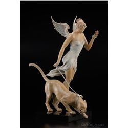 """Michael Parkes """"Descending"""" Bronze Sculptures"""