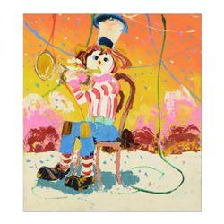 "Paul Blaine Henrie (1932-1999), ""Bugle Boy"" Original Oil Painting (36"" x 40"") on Canvas, Hand Signed"
