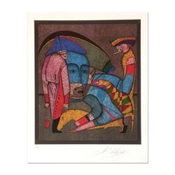 """Mihail Chemiakin - Carnival Series: """"Untitled 13"""" Limited Edition Lithograph, Numbered Hand Signed w"""