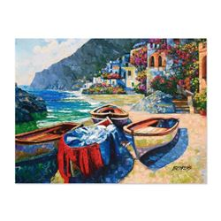 """Howard Behrens (1933-2014) - """"Memories of Capri"""" Hand Embellished Limited Edition on Textured Board,"""