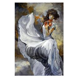 """Lena Sotskova, """"Moonlight"""" Hand Signed, Artist Embellished Limited Edition Giclee on Canvas with COA"""