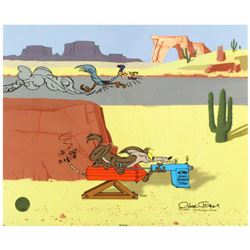 """""""Acme Road Runner Spray"""" Limited Edition Animation Cel with Hand Painted Color by Chuck Jones (1912-"""