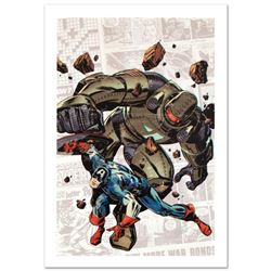 """""""Captain America: The 1940s Newspaper Strip #2"""" Limited Edition Giclee on Canvas by Butch Guice and"""