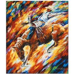 """Leonid Afremov """"Rodeo - Dangerous Games"""" Limited Edition Giclee on Canvas, Numbered and Signed; Cert"""
