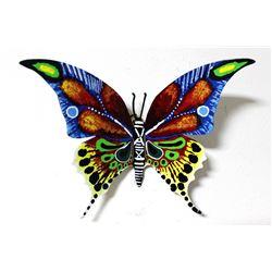 "Patricia Govezensky- Original Painting on Cutout Steel ""Butterfly CXL"""