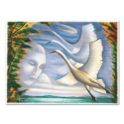 """Rina Sutzkever - """"Fly Away"""" Limited Edition Serigraph, Numbered and Hand Signed with Certificate of"""