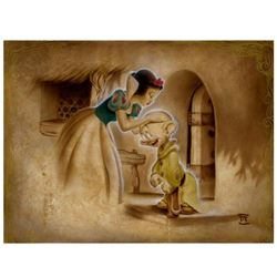 """Noah, """"Awaiting the Kiss"""" Limited Edition Giclee on Canvas, Licensed by Disney Fine Art, Numbered an"""
