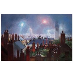 """Peter Ellenshaw (1913-2007), """"Sweeps Dance (DELUXE)"""" Limited Edition Hand Embellished Giclee on Canv"""