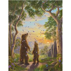 """Robert Bissell """"The Golden Hour"""" Giclee on Canvas"""