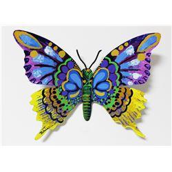 "Patricia Govezensky- Original Painting on Cutout Steel ""Butterfly CX"""