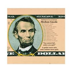 "Steve Kaufman (1960-2010), ""Portrait of an Achiever Abe Lincoln"" Limited Edition Silkscreen on Canva"