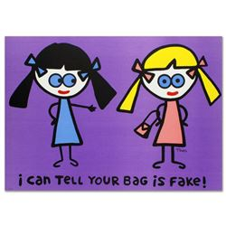 """I Can Tell Your Bag is Fake"" Limited Edition Lithograph (38"" x 27"") by Todd Goldman, Numbered and H"