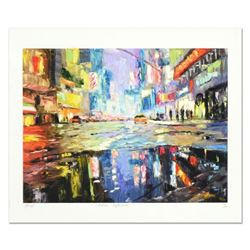 """Elena Bond, """"Urban Reflection"""" Hand Embellished Limited Edition Mixed Media, Numbered and Hand Signe"""