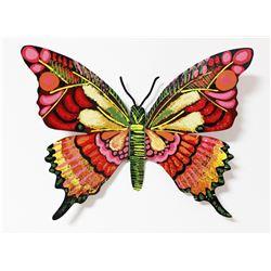 "Patricia Govezensky- Original Painting on Cutout Steel ""Butterfly LXXXIX"""