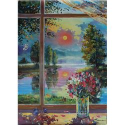"Alexander Borewko- Original Oil on Canvas ""Beautiful Day Outside"""
