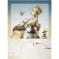 """Michael Parkes """"Nectar"""" Original Hand Pulled Stone Lithographs"""