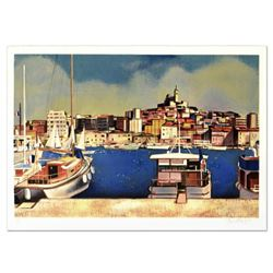 """Robert Vernet Bonfort, """"Plessis Bourre"""" Limited Edition Lithograph, Numbered and Hand Signed."""