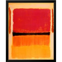 "Mark Rothko ""Untitled (Violet, Black, Orange, Yellow on White and Red)"" 1949 Offset Lithograph"