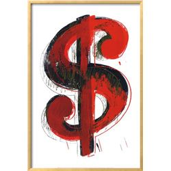 "Andy Warhol ""$$$"" Custom Framed"