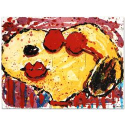 """Very Cool Dog Lips in Brentwood"" Limited Edition Hand Pulled Original Lithograph by Renowned Charle"