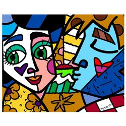 "Romero Britto ""Please Sweetheart"" Hand Signed Limited Edition Giclee on Canvas; COA"