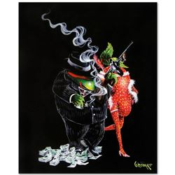 """Gangster Love"" Mural Limited Edition Hand-Embellished Giclee on Canvas (42"" x 53"") by Michael Godar"
