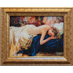 "Sergey Ignatenko- Original Giclee on Canvas ""Sleeping"""