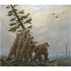 "Robert Bissell ""Blowdown"" Giclee on Canvas"