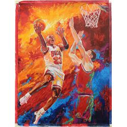"Turchinskiy Dmitriy- Original Oil on Canvas ""Dunk Over Him"""