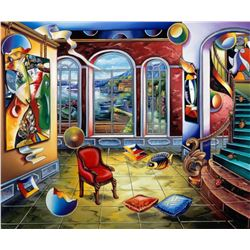 "Alexander Astahov- Original Giclee on Canvas ""Master in Time"""