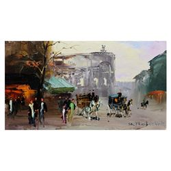 "Shalva Phachoshvili- Original Oil on Canvas ""Old Village"""