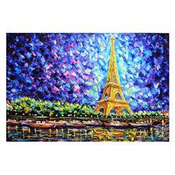 "Svyatoslav Shyrochuk- Original Oil on Canvas ""Eiffel's View"""