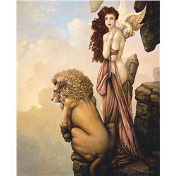 """Michael Parkes """"The Last Lion"""" Masterworks on Canvas"""