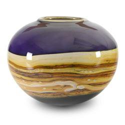 """Small Amethyst Sphere"" Hand Blown Glass Sculpture, Hand Signed byGartnerBlade Glass."