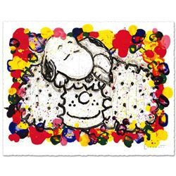 """""""Why I Like Big Hair"""" Limited Edition Hand Pulled Original Lithograph (37"""" x 27"""") by Renowned Charle"""