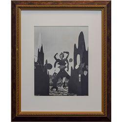 "Alexander Calder- Lithograph ""Gold Marilyn Monroe"""