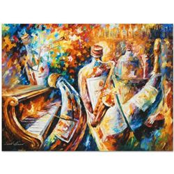 """Leonid Afremov """"Bottle Jazz I"""" Limited Edition Giclee on Canvas, Numbered and Signed; Certificate of"""