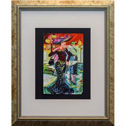 "Patricia Govezensky- Original Watercolor ""Sailboats"""