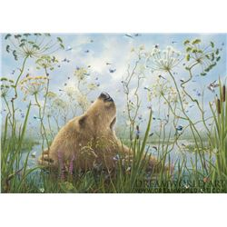 """Robert Bissell """"The Whole World"""" Giclee on Canvas"""