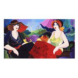 "Patricia Govezensky- Original Giclee on Canvas ""Rest in The Village"""