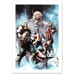 """""""Hail Hydra #2"""" Limited Edition Giclee on Canvas by Adi Granov and Marvel Comics. Numbered and Hand"""