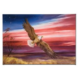 """""""Red White and Blue"""" Limited Edition Giclee on Gallery Wrapped Canvas by Martin Katon, Numbered and"""