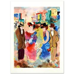 """Zule, """"Two Couples"""" Limited Edition Serigraph, Numbered and Hand Signed with Certificate."""