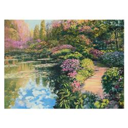 """Howard Behrens (1933-2014), """"Giverny Path"""" Limited Edition on Canvas, Numbered and Signed with Certi"""