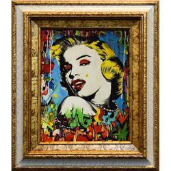 "Nastya Rovenskaya- Mixed Media ""Marilyn Monroe I"""