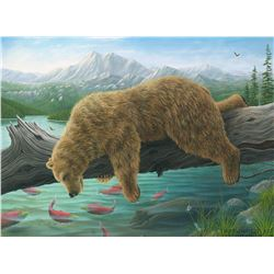 """Robert Bissell """"The Reflection 2"""" Giclee on Canvas"""