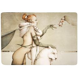 """Michael Parkes """"The Creation"""" Original Hand Pulled Stone Lithographs"""