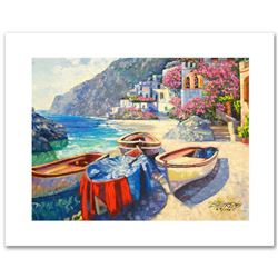 """""""Memories of Capri"""" Limited Edition Hand Embellished Giclee on Canvas by Howard Behrens (1933-2014)."""