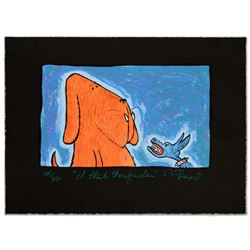 """""""I Think Therefore I Am"""" Limited Edition Hand Pulled Original Lithograph By Matt Rinard, Numbered an"""